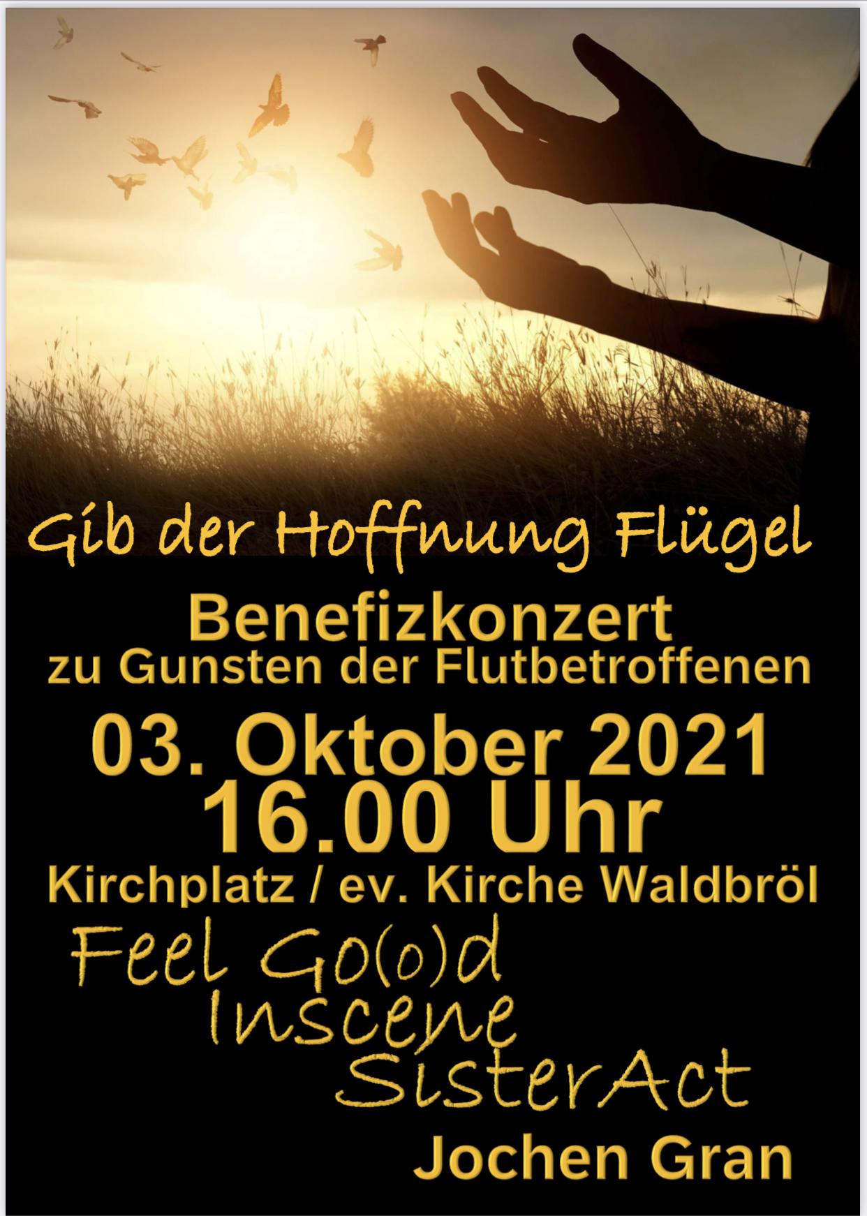 Benefizkonzert am 3. Oktober